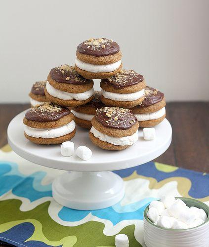 mores Whoopie Pies | Whoopie pies & sandwich cookies | Pinterest