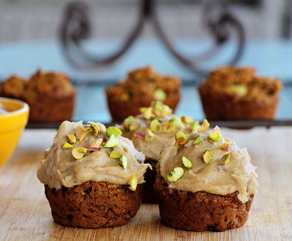 Simply Mindful / Carrot Cake Pistachio Nut Muffins with Sweet Cashew ...