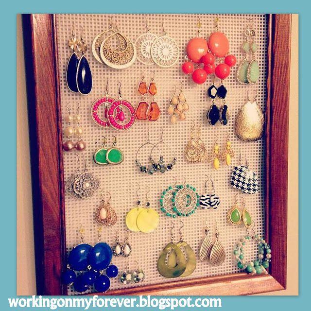 Diy earring hanger juego