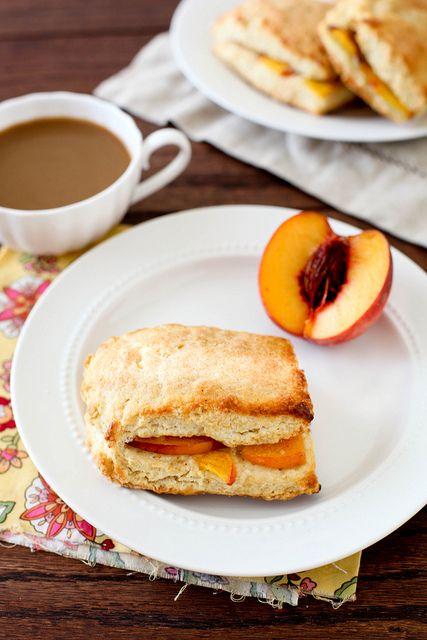 peach cobbler scones | baked | Pinterest