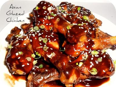 Healthy Asian Glazed Chicken Drumsticks #Recipe #Dinner