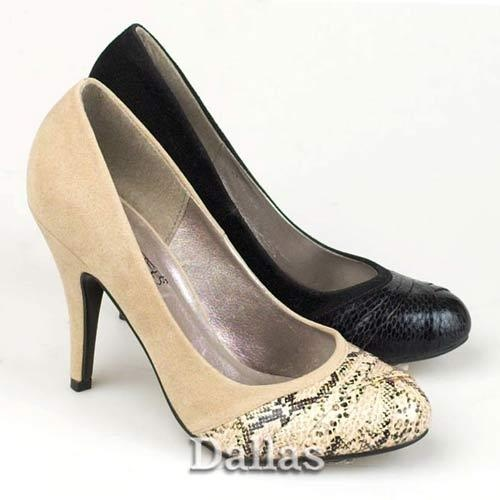 LADIES HIGH HEELS COURT SHOES WOMENS SMART OFFICE WORK BLACK MARY JANE