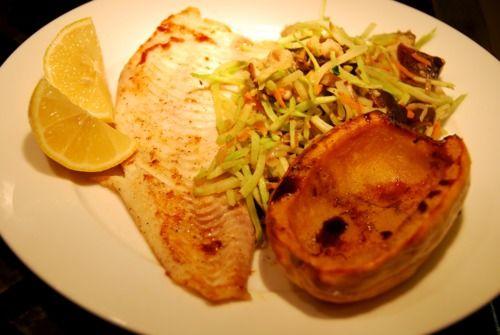 ... Roasted Delicata Squash, and Stir-Fried Shiitake and Broccoli Slaw