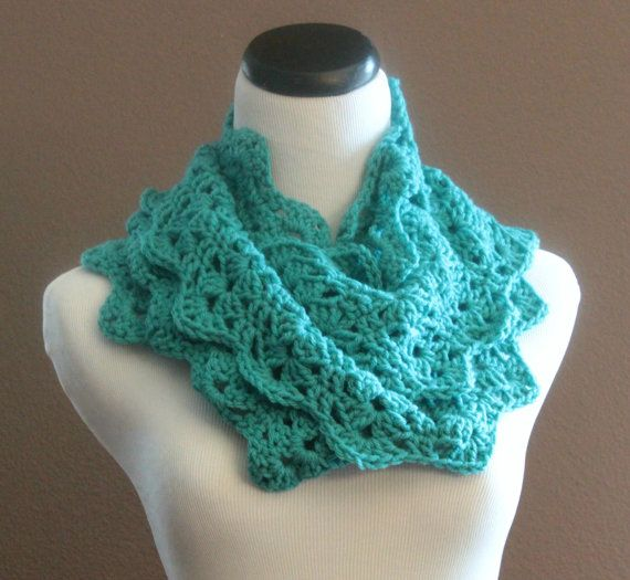 Crochet Pattern For Lacy Infinity Scarf : Crochet Scarf Lace Infinity Loop Th