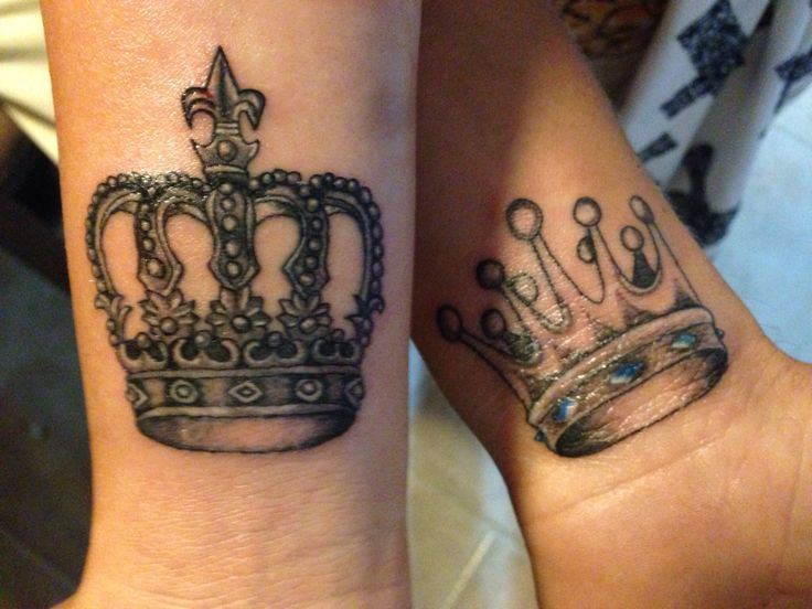 Matching King And Queen Tattoos For Couples | www.imgkid