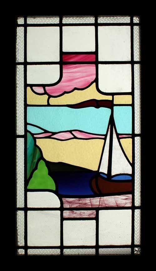 Glass Window Art Deco Stained Glass Window