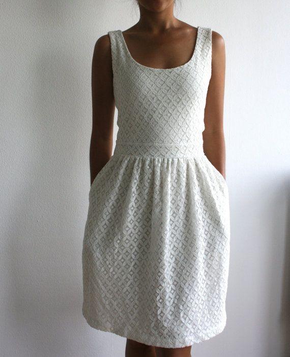 Elegant White Eyelet Lace Hem Maxi Dress  Sexy Clubwear  Party Dresses