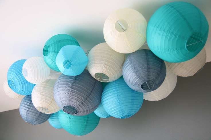 Paper lantern baby mobile  http://www.healthytippingpoint.com/2012/05/babyhtp-36-weeks.html