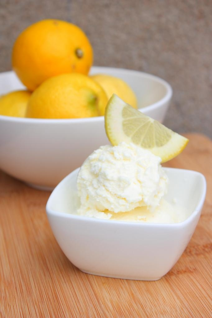 Light, refreshing lemon ice cream with a splash of lime that adds a ...