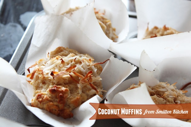 Double Coconut Muffins from Smitten Kitchen