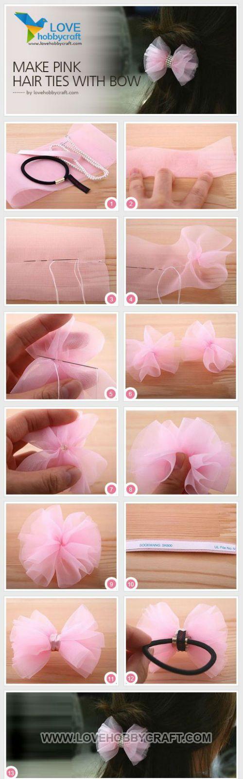 Цветок из банта своими руками 6