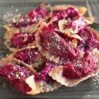OMG! this is happening! Beet Ravioli with Poppy Seed Butter by Bon ...