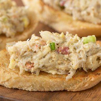 Crab and Artichoke Dip from Stonewall Kitchen using Artichoke Pesto.