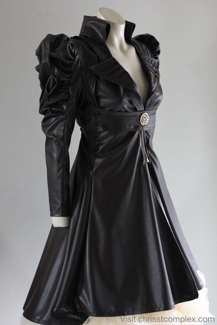 Steampunk leather jacket