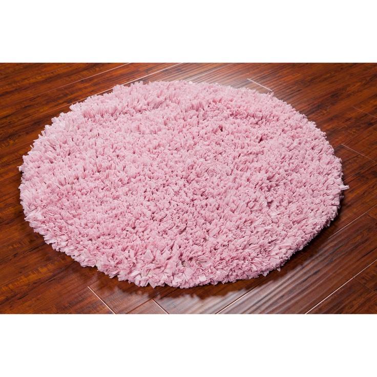 Mandara Hand Woven Pink Shag Rug 4 39 Round