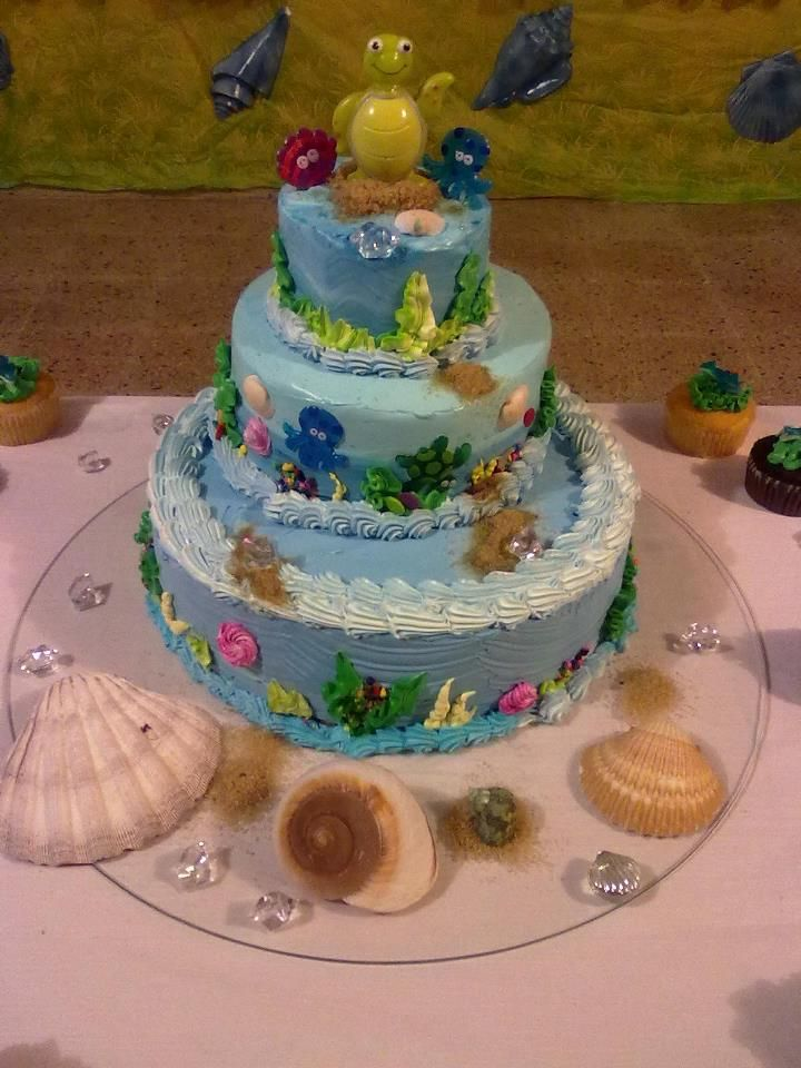 bizcocho de baby shower tema tortuga desserts sweeties tables