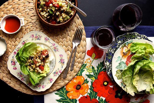 blt corn salad wraps