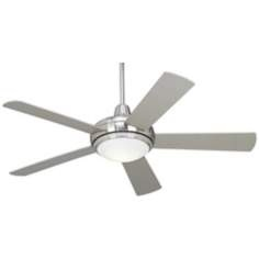 Compass brushed nickel ceiling fan light