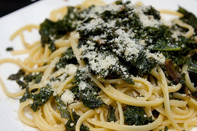 Pasta with braised Kale by shutterbean, via Flickr