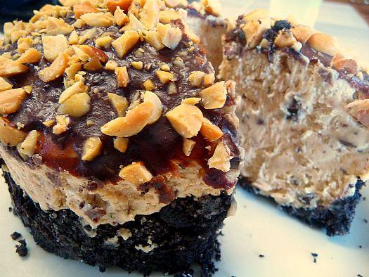 Chocolate Peanut Butter Mousse Torte