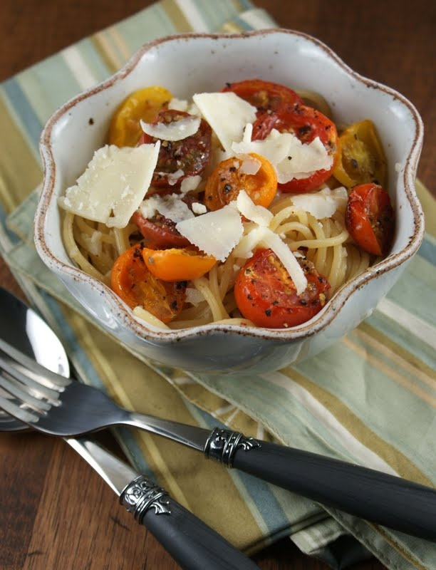 Pasta With Ricotta And Heirloom Tomatoes Recipe — Dishmaps