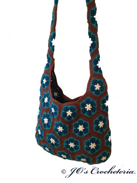 Flower Crochet Bag : ... www.etsy.com/listing/174943206/crochet-pattern-african-flower-shoulder