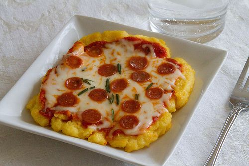 Grilled Personal Polenta Pizzas - love that she uses the George ...