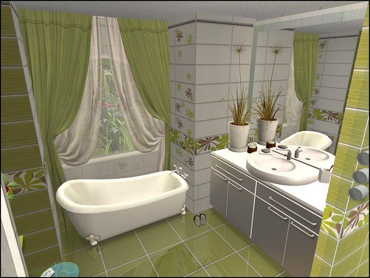 Sims bathroom the sims 3 pinterest for Bathroom ideas sims 3