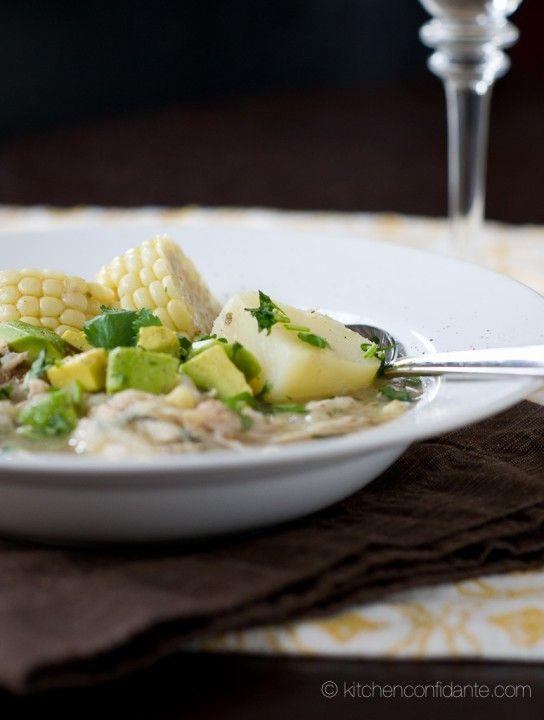 Sopa de Ajiaco Colombian chicken, corn and potato soup
