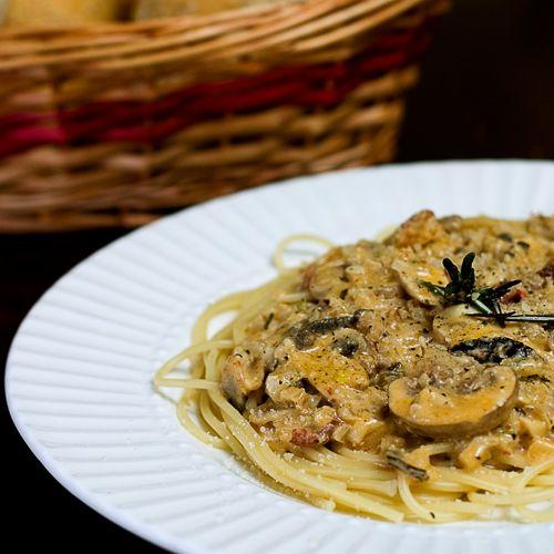... and Rosemary Alfredo Pasta A deliciously spicy Alfredo Spaghetti .YUM