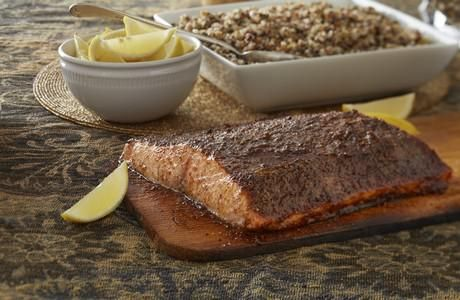 cedar planked moroccan spiced salmon | Things that make you say mmmmm ...