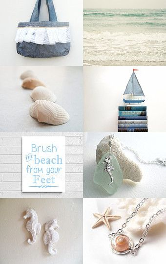 A Day At The Beach by Fashionelle on Etsy--Pinned with TreasuryPin.com