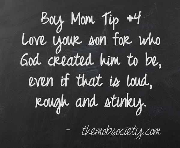 Boy Mom Tip #4 (From the MOB Society)