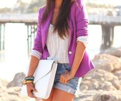 pop of color - purple blazer