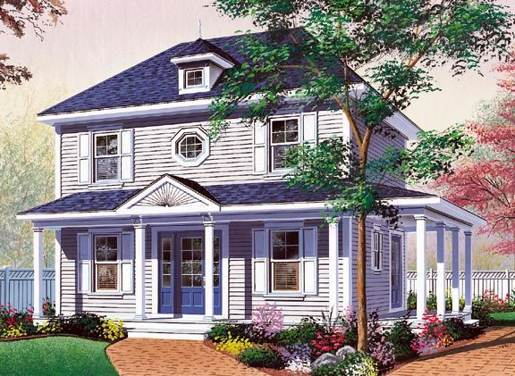Colonial Southern House Plan 65175