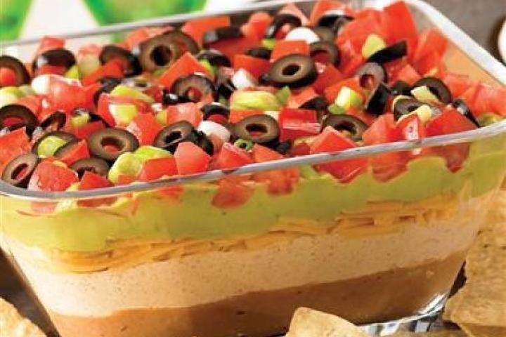 layer dip | Appetizers | Pinterest