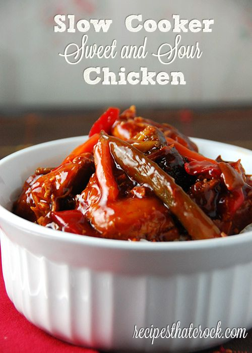 Slow Cooker Sweet and Sour Chicken #slowcooker #crockpot # ...