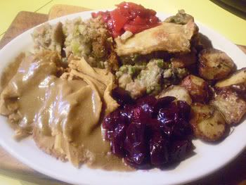 Roast Turkey With Traditional Stuffing And Cranberry Sauce Recipes ...