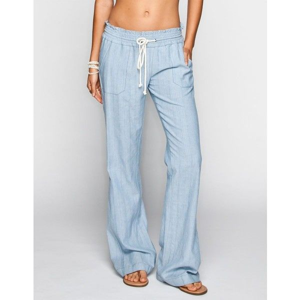 New The Beach Pant In Linen  Victoria39s Secret