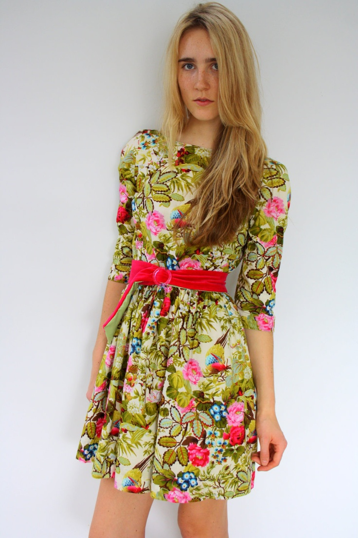 Vintage inspired beautiful floral dress by ElopeinApril on Etsy, $120.00