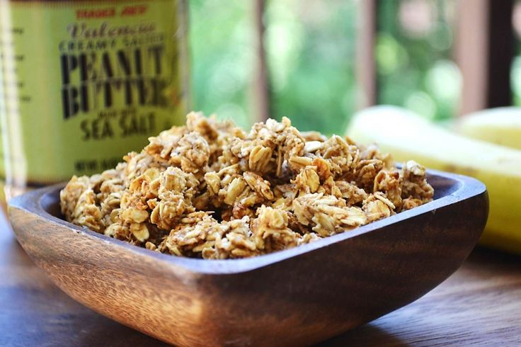 Homemade Banana Nut Granola for after school snack