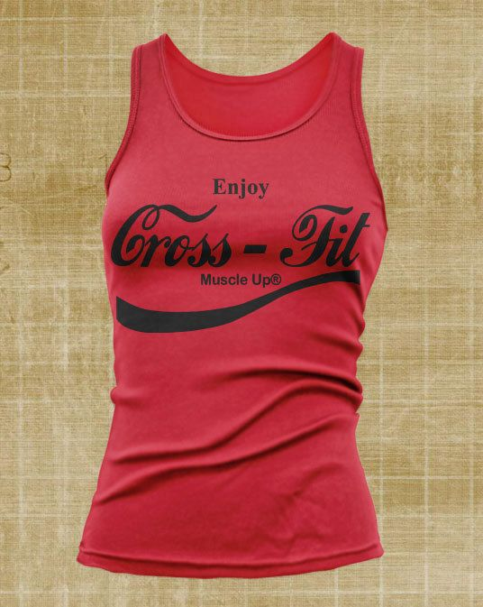 Crossfit Apparel Muscle Up Coca Cola Women's Tank by JustScott