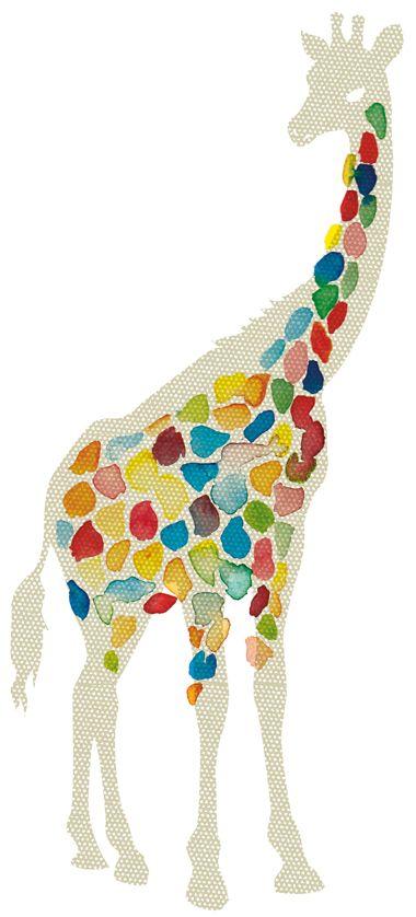 Colorful giraffe.