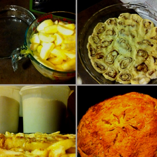 Cinnamon Roll Crust Apple Pie! Follow the instructions on the link for ...