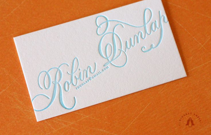 Calligraphy Business Card Design Buisness Cards