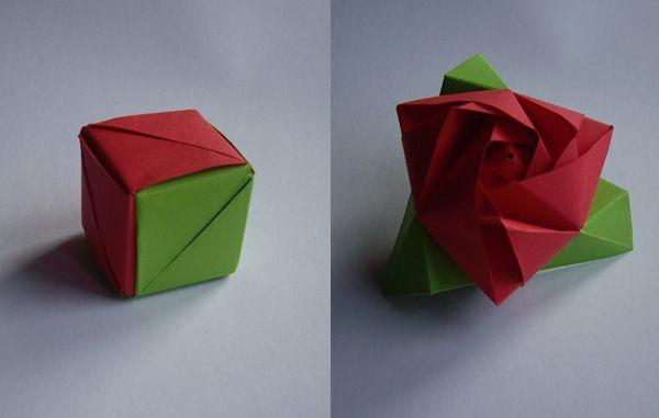 origami magic rose cube origami amp other crafts pinterest