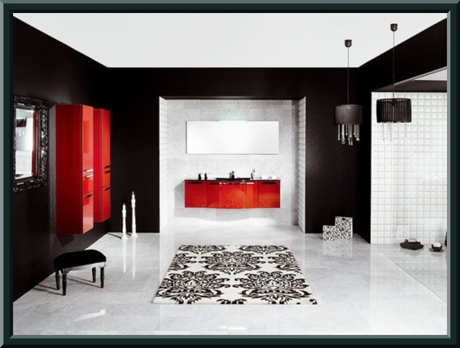 Black White And Red Bathroom Sneaker Inspiration
