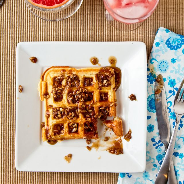 Waffles with Southern Comfort Praline Sauce by foodiebride, via Flickr