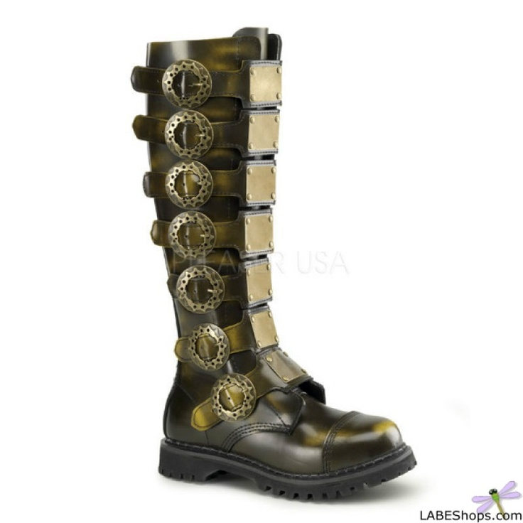 steampunk mens leather boots mens steampunk pinterest