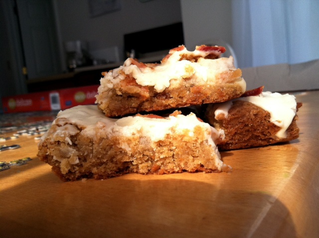 maple-bacon blondies | Recipes | Pinterest
